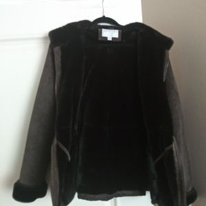 Sonoma brown suede fur lining Coat
